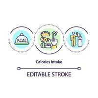 kaloriintag koncept ikon vektor