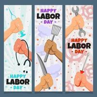 Arbeitstag Hände mit Werkzeugen vektor