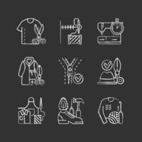 sy krita vita ikoner på svart bakgrund