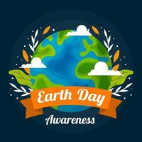 Flat Earth Day Bewusstsein vektor