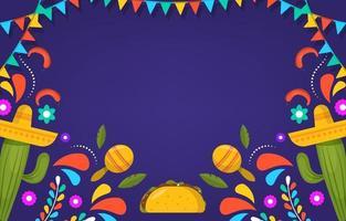 flacher cinco de mayo festlicher Hintergrund vektor