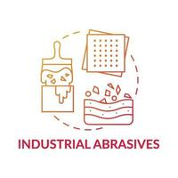 Konzeptikone für industrielle Schleifmittel.
