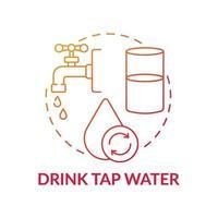 Trinkwasser Leitungskonzept Symbol vektor