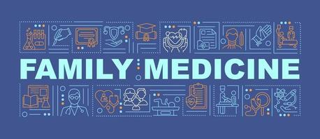 familjemedicin ord koncept banner