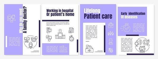 varför behöver du en broschyrmall för husläkare vektor