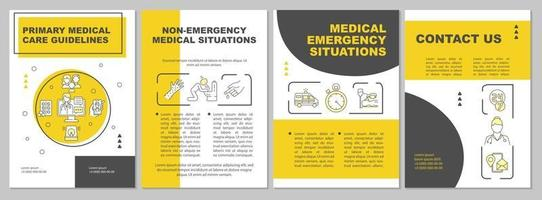 broschyrmall för riktlinjer för primärvård vektor