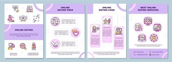 Online-Dating-Broschüre Vorlage vektor