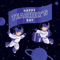 Lehrertag im Weltraum vektor