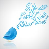 sozialer blauer Vogel