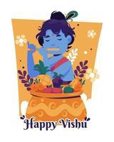 glückliche Vishu Festivalillustration vektor
