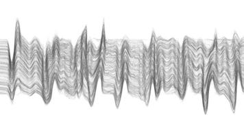 abstrakt ljudvåg på vit bakgrund vektor