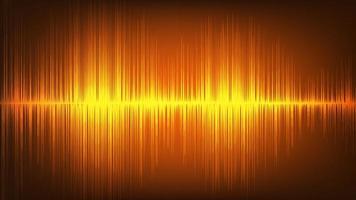 orange digital ljudvågsteknik och jordbävningsvågkoncept vektor