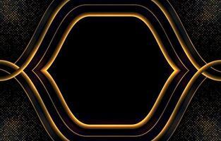 goldener und schwarzer Luxushintergrund
