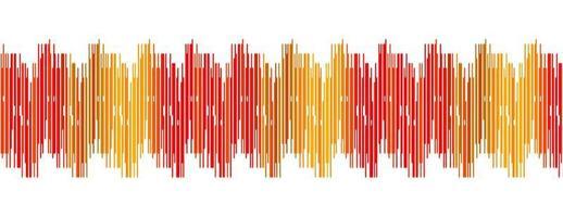 röd digital ljudvågbakgrund vektor