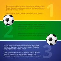 Fußballspiel Design Vektor