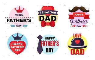 glücklicher Vatertagsaufkleber vektor