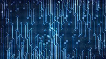 abstrakt krets digitalt mikrochip på teknikbakgrund vektor