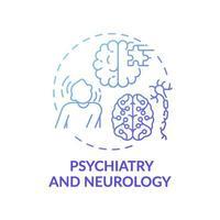 psykiatri och neurologi blå lutning koncept ikon