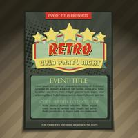 Design einer Club-Party-Broschüre