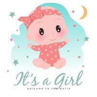 Es ist eine Mädchendusche für ein kleines Mädchen vektor