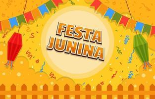 festa junina festival attraktiv bakgrund vektor