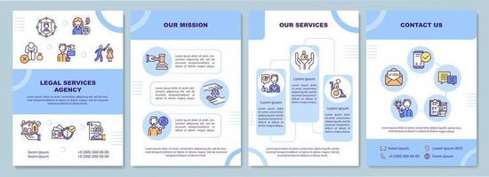 Broschüre Vorlage der Agentur für Rechtsberatung vektor