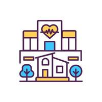 Krankenhausgebäude RGB Farbikone