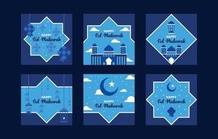Eid Mubarak Karte vektor