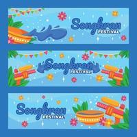 Songkran Festival Banner vektor