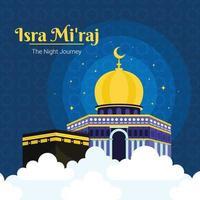 isra mi'raj islamischer hintergrund vektor