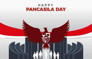 pancasila grunden för Indonesiens bakgrund vektor
