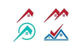 arkitekt, hem, konstruktion kreativ logotyp mall vektor