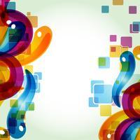 färgstark abstrakt eps10 vektor