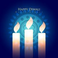 Diwali-Kerzen vektor