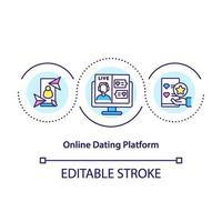 online dejting plattform koncept ikon