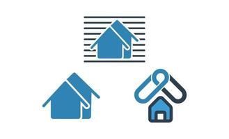 hemreparation, fastigheter, byggnadsarkitekt koncept logotyp mall vektorillustration