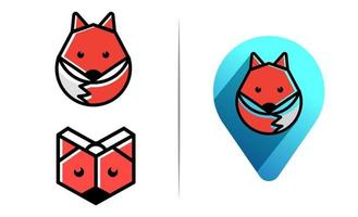Fuchs Logo Konzept Vorlage Vektor-Illustration Symbol Element isoliert vektor