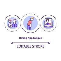 dating app trötthet koncept ikon