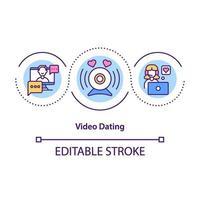 video dating koncept ikon