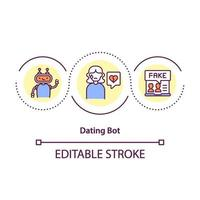 dating bot koncept ikon