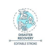 katastrofåterställning koncept ikon