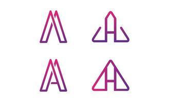 Schreiben Sie eine Monoline Logo Design Vektor-Illustration vektor