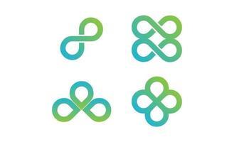 Unendlichkeit Design Vektor Logo Vorlage Vektor-Illustration Symbol Element isoliert - Vektor