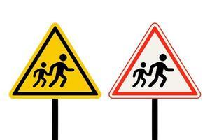 Fußgängerüberweg-Zeichensatz vektor