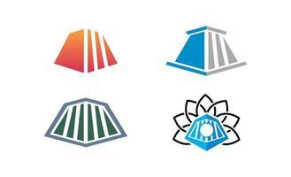 alte Zuglokomotiv-Logo-Vorlage vektor