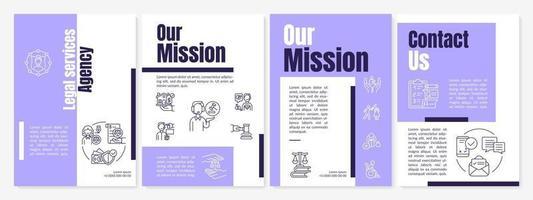 juridiska tjänster byrå broschyr mall vektor