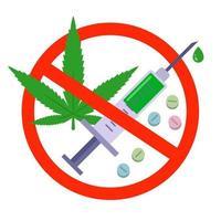 förbud mot droger koncept