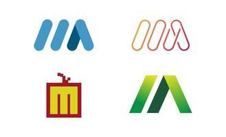 Buchstabenanfang m Logo Design Vorlage Vektor-Illustration vektor
