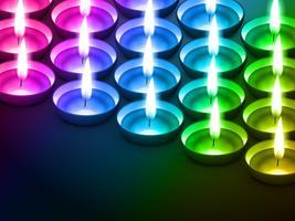 bunter Diwali-Hintergrund vektor
