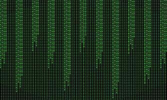 binär hackermatrisbakgrund vektor